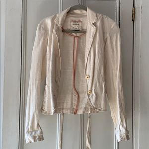 Anthropologie Linen Blazer